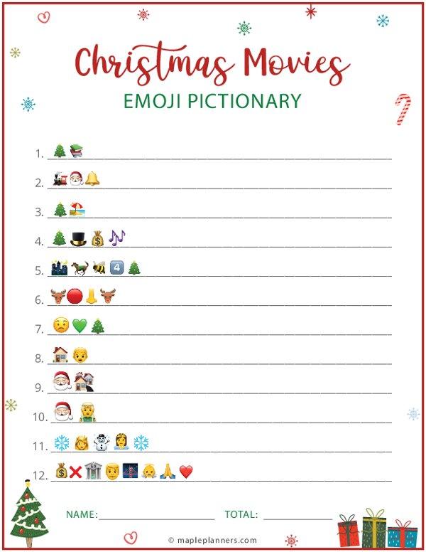 Christmas Movies Emoji Pictionary