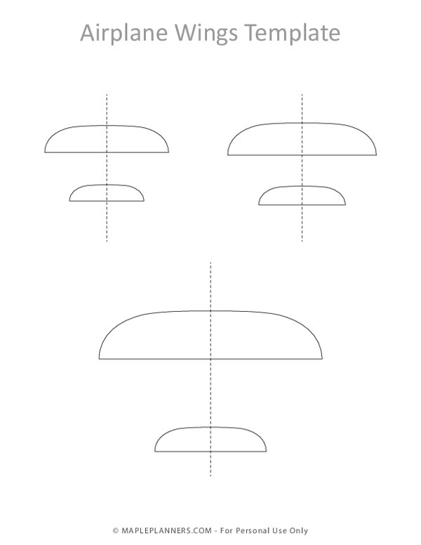 Airplane Wings Template