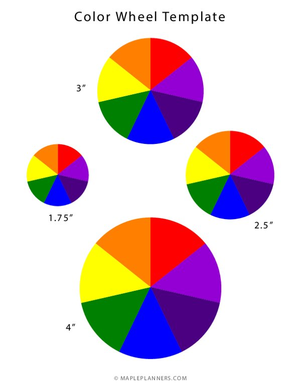 Colorful Spinning Wheel Template