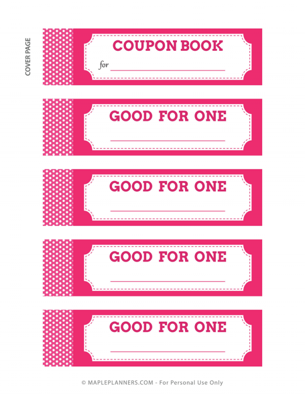 Coupon Book DIY