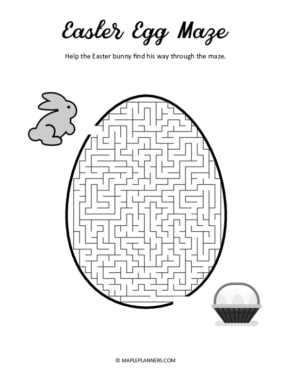 Easter Egg Maze Puzzle