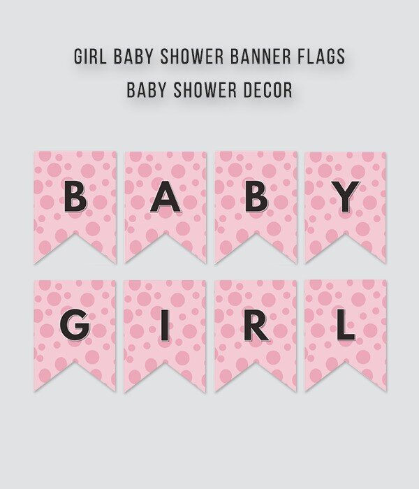 Baby Girl Shower Banner