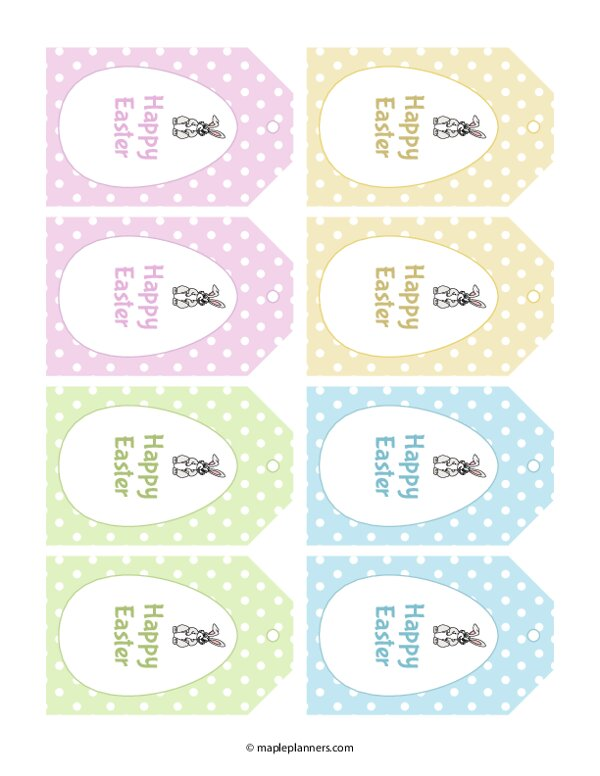 Easter Gift Tags Template