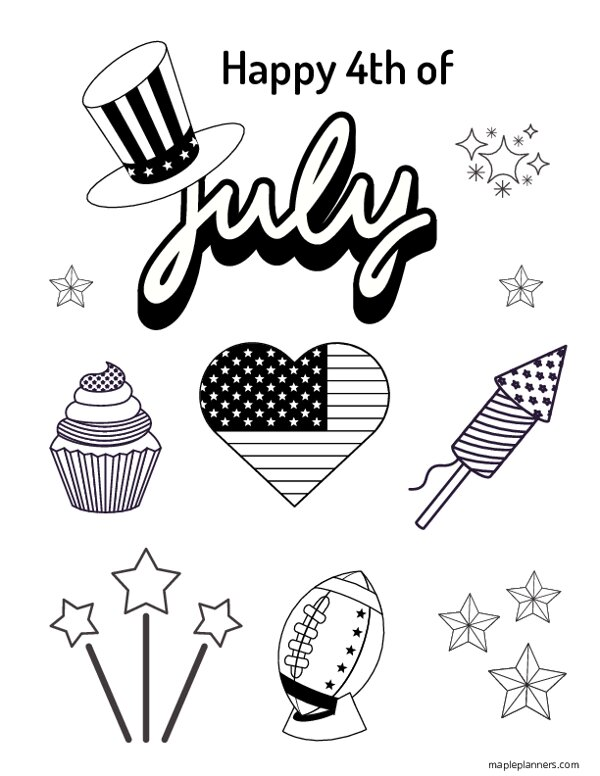 4th of July Coloring Pages