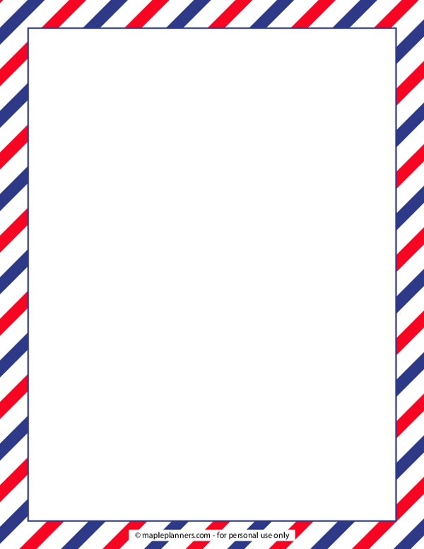 Independence Day Decorative Border