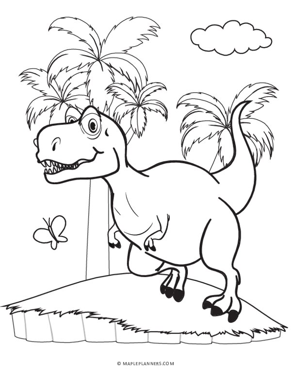 Tyrannosaurus Rex (T-Rex) Coloring Pages