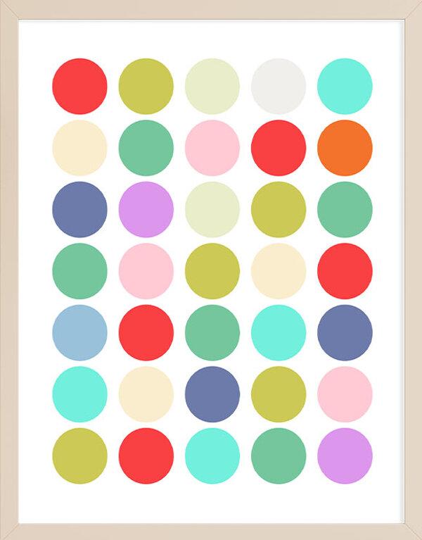 Abstract Color Circles Wall Art