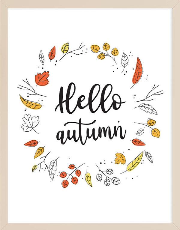 Hello Autumn Wall Art