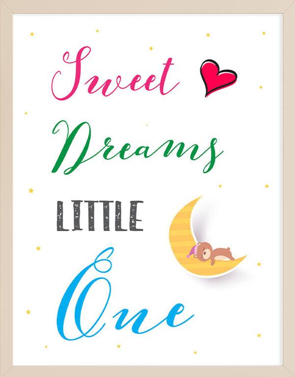 Sweet Dreams Little One Wall Art