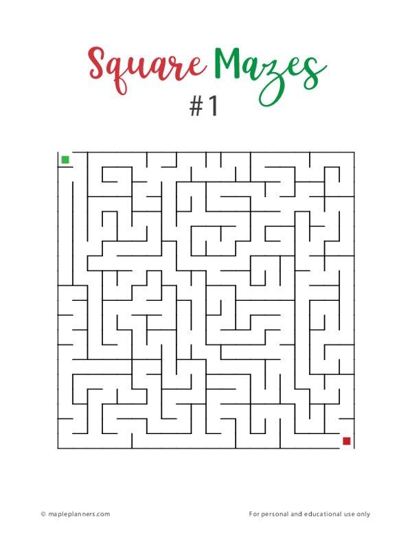 Fun Square Mazes #1