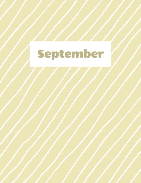 September Binder Divider