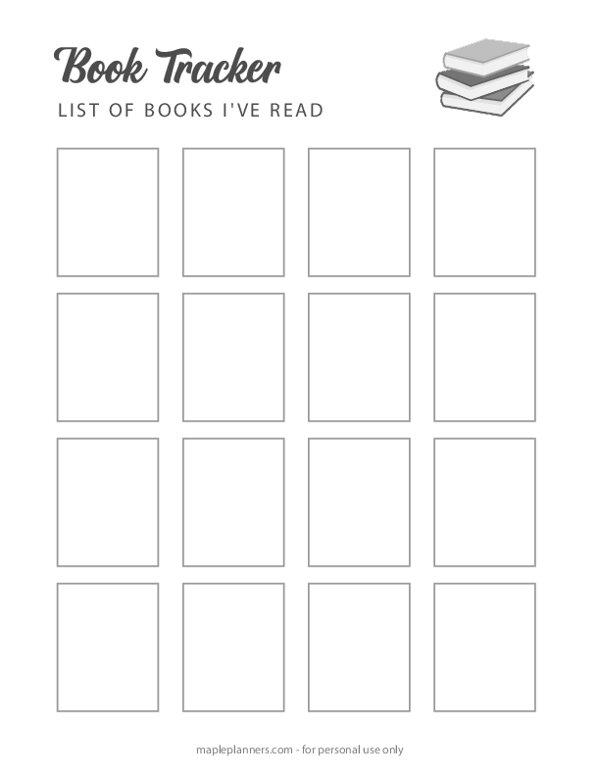 Book Tracker - Reading Log Template