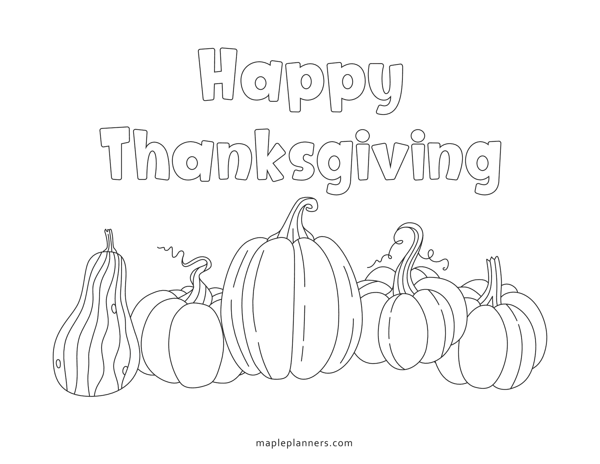 Thanksgiving Pumpkin Coloring Sheets
