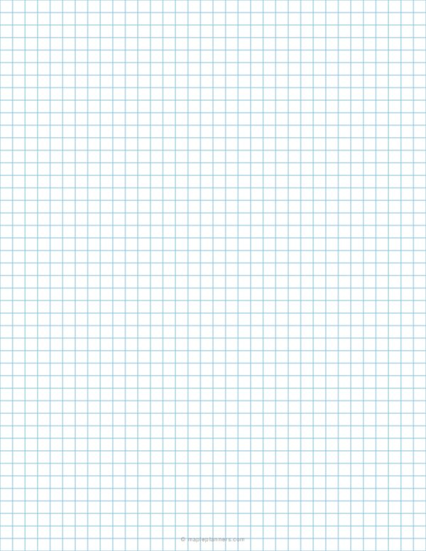 1/4 Inch Blue Graph Paper