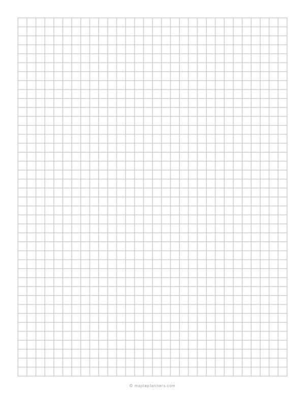 1/4 Inch Grey Graph Paper