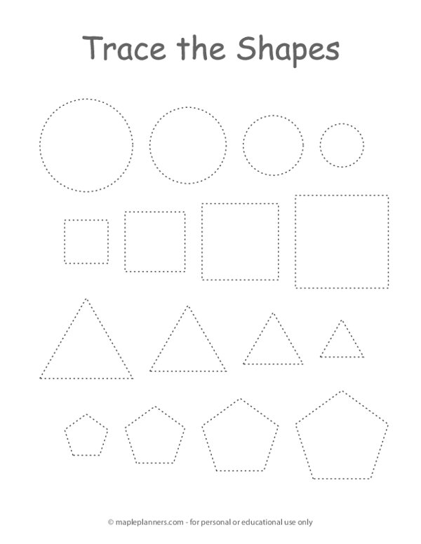 Trace the Shapes
