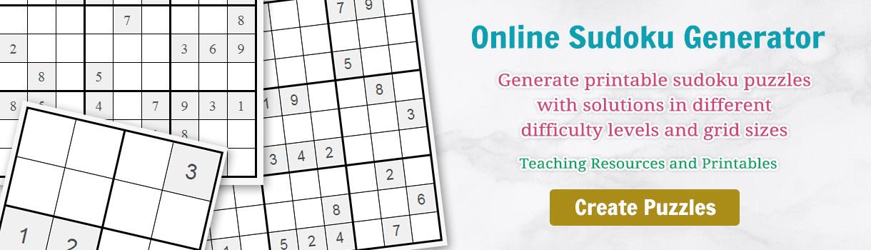 online sudoku generator tool