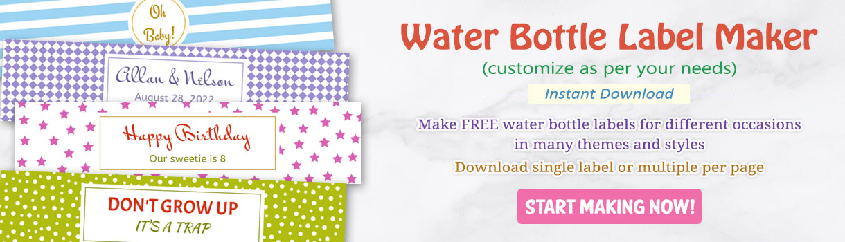 online water bottle label maker