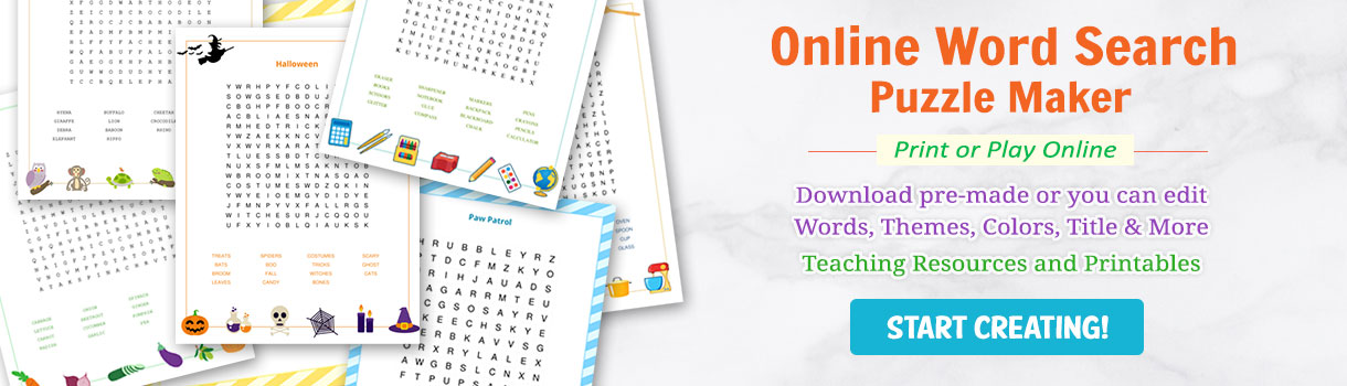 online word search generator tool