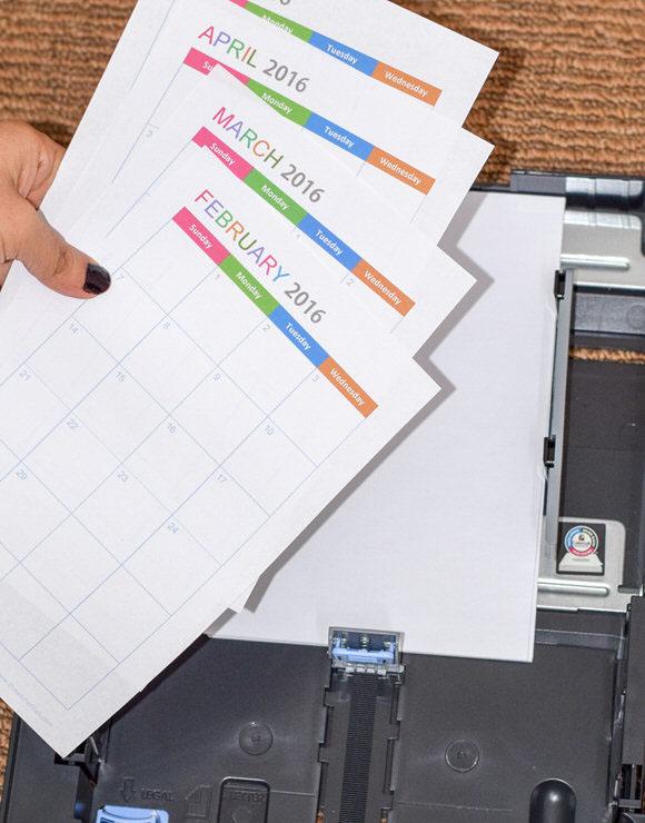 Half Size Printable Planner Printing Tutorial