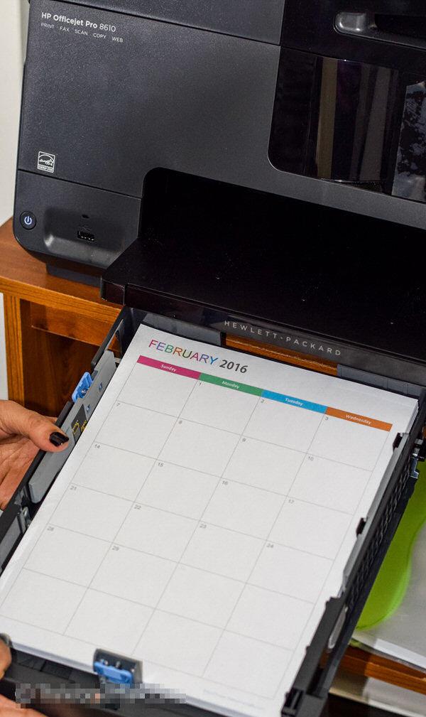 Printing Letter Size Planner Back to Back