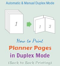 Printing instructions for duplex printing mode