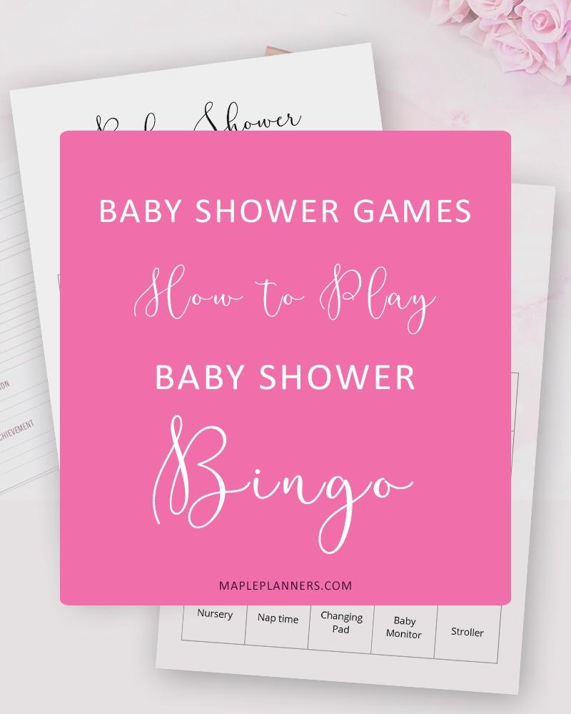 How to play Baby Shower Bingo