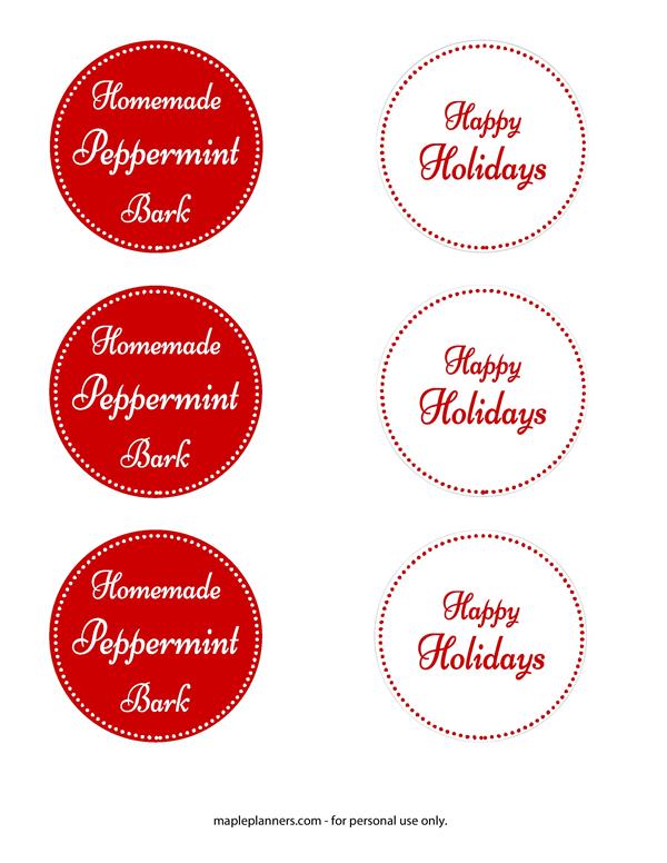 Happy Holidays Printables