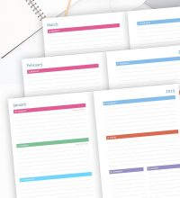 Weekly Planner 2019 Horizontal Layout