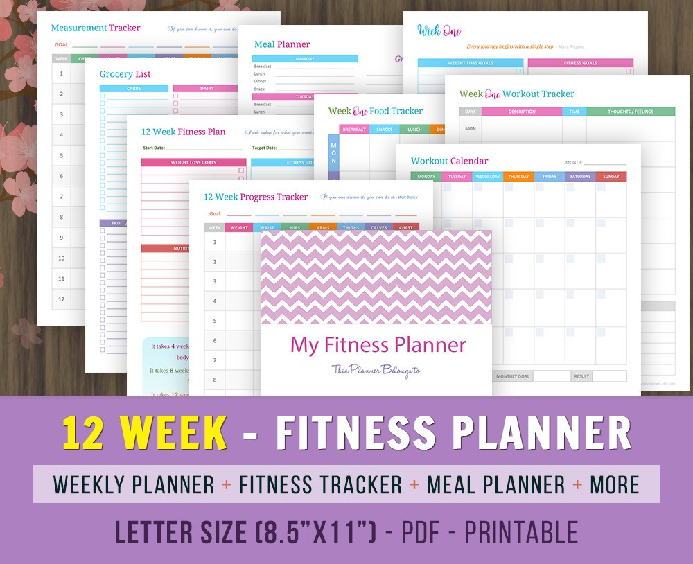 12 Week Fitness Planner