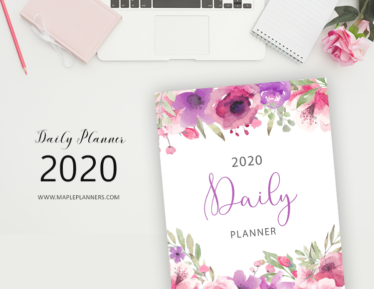 Daily Planner 2020 - Monthly Weekly Planner Printables
