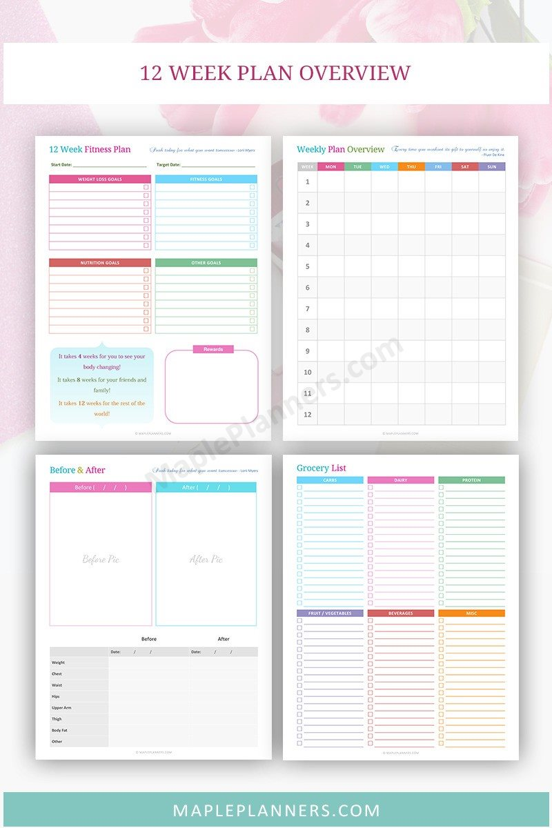 12 Week Fitness Plan Overview - Fitness Planner