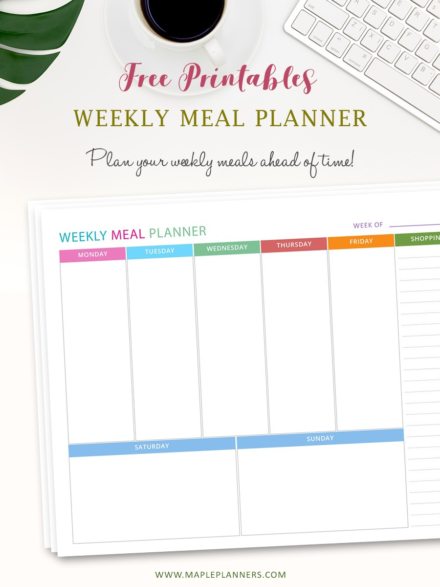 Download Free Meal Planner Template