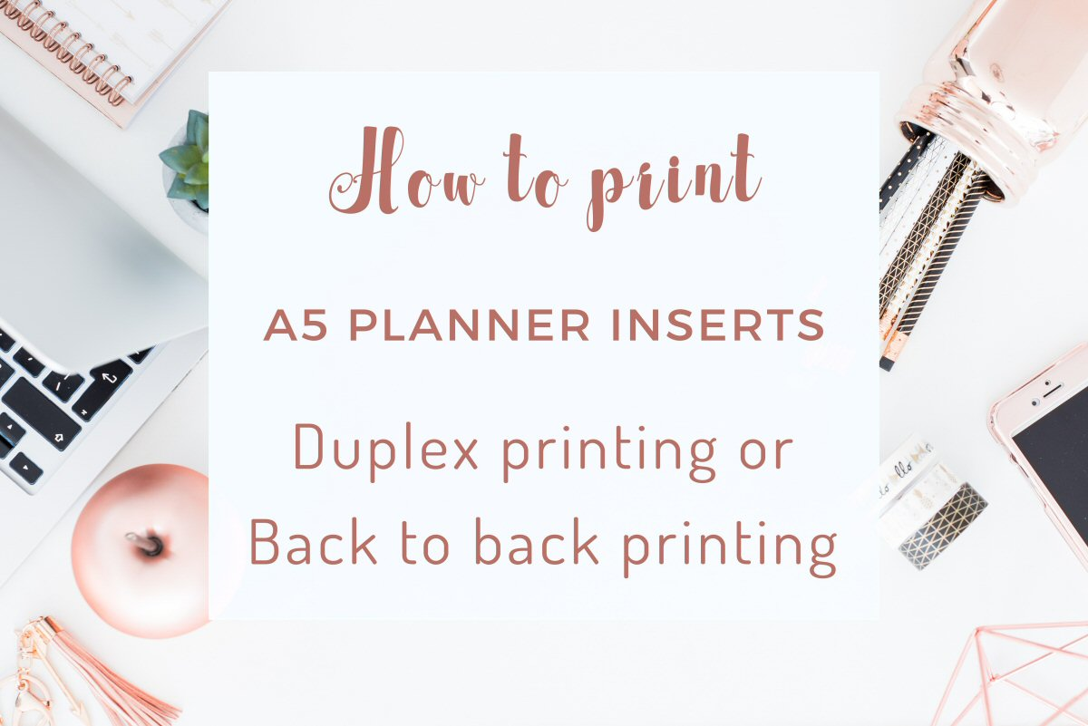 How to print A5 or Half Letter Size Planner Inserts