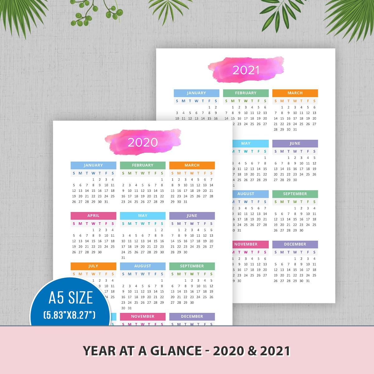 Year at a Glance 2020 & 2021