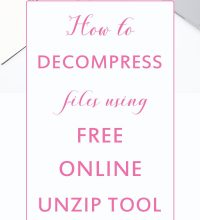 How to decompress files using free online unzip tool