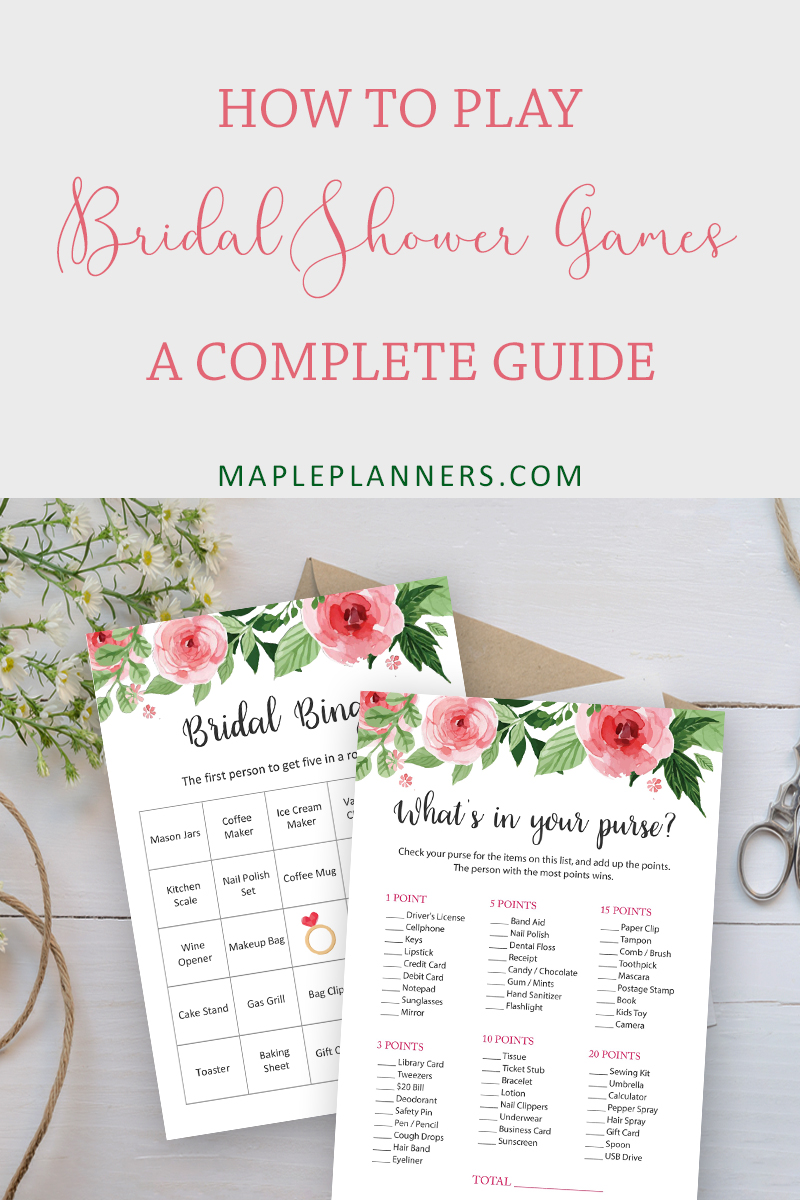 How to play Bridal Shower Games