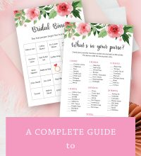 A complete guide to bridal shower games