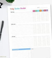 Daily Routine Checklist Printable