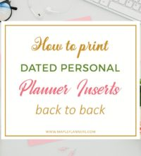 How to print Personal Planner Inserts back to back