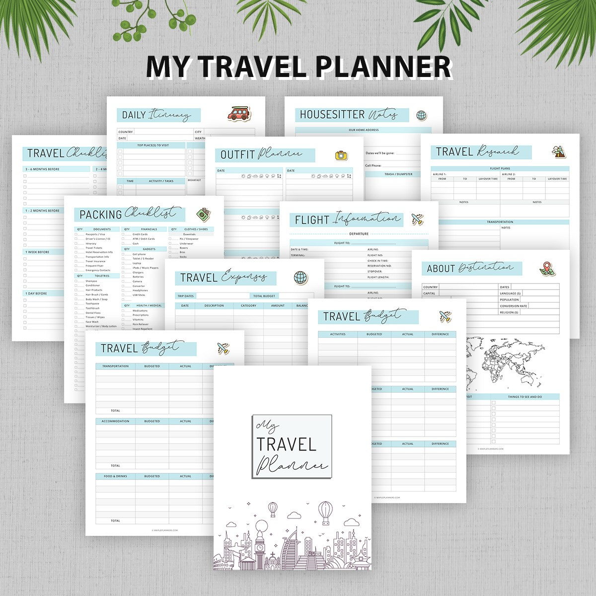 My Travel Planner Binder Printable