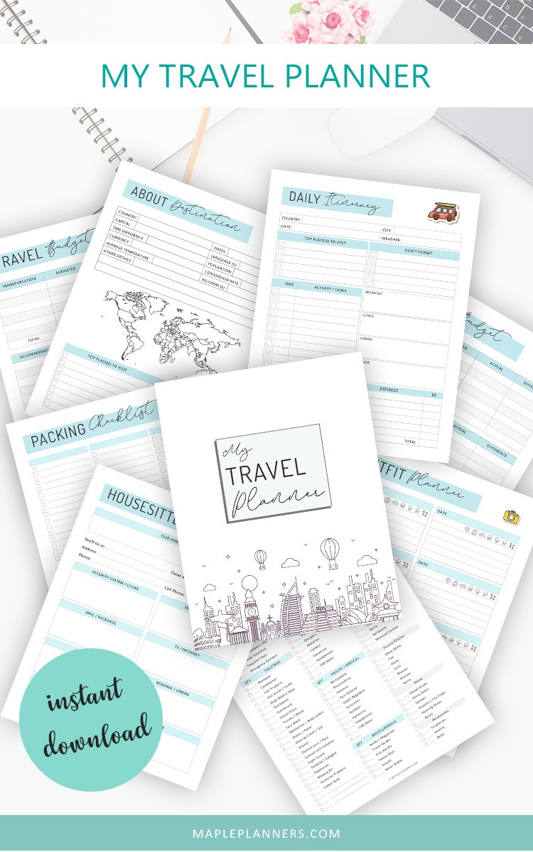 My travel journal printable