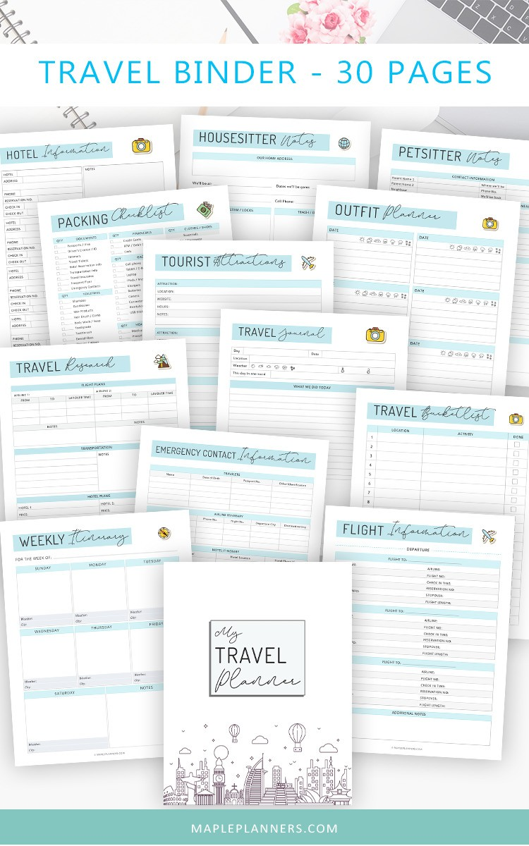 Travel Binder Printable