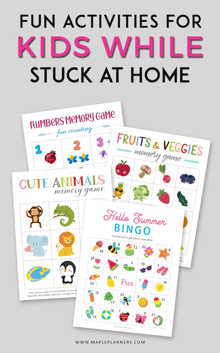 Fun activities for kids to do while stuck at home