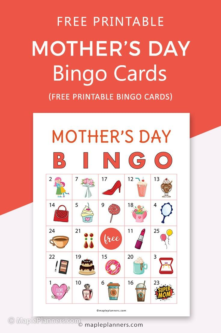 Free Printable Mothers Day Bingo Cards