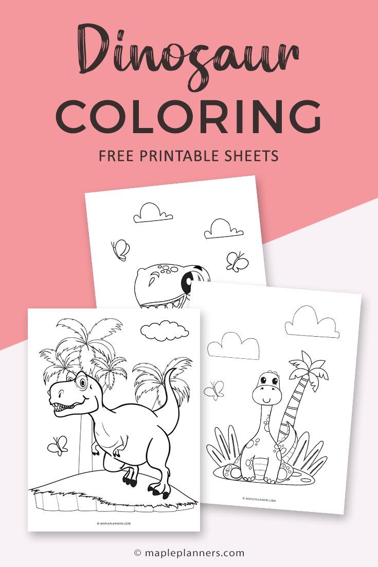 Free Dinosaur Coloring Sheets